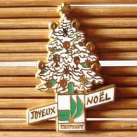 Joli Pin's Joyeux Noël, Ballard, Zamac, TBQ, Pins Pin. - Natale