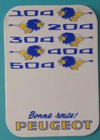 Petit Calendrier De Poche 1975 Bonne Route Peugeot Lion - 104 204 304 404 504 - Small : 1971-80