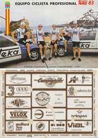 CARTE CYCLISME GROUPE 5 COUREURS  TEKA 1983, COUPE, FORMAT 19,7 X 28, VOIR PHOTO ) - Cycling