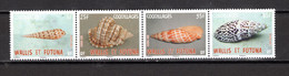 WALLIS ET FUTUNA  N° 776 à 779   NEUFS SANS CHARNIERE COTE 2.80€     COQUILLAGE ANIMAUX - Unused Stamps