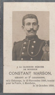 ABL , Constant Marson Né à Ochamps 1889 - Rumbeke 1918 - Todesanzeige