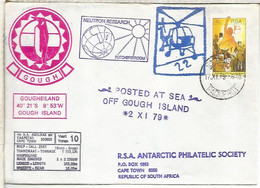 AFRICA DEL SUR RSA CC ANTARTIDA ANTARCTIC 1979 MV AGULHAS VIAJE 10 GOUGH ISLAND - Antarctic Expeditions