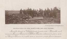 ABL , Funérailles De Quinet Et Bastin à Moorslede Hameu De Waterdamhoeck Le 8 Octobre 1918 - Todesanzeige