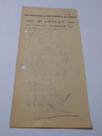 T693 / Facture M. LEGEAY - CONFISERIE & DESSERTS EN GROS - LAIGLE Orne - Invoices