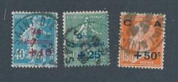 FRANCE - N° 246/48 OBLITERES - COTE : 30€ - 1927 - Gebruikt