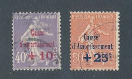 FRANCE - N° 249/50 OBLITERES - COTE : 40€ - 1928 - Gebruikt