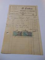 T696 / Facture G. CATHOU à SOLIGNY LA TRAPPE Orne - BOIS DE CHAUFFAGE CHARBON GRUME - Invoices