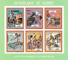 Republica De Guinea Nº Michel 1187 Al 1192 En Hoja Verde - Zomer 1992: Barcelona