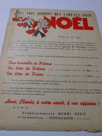 T697 / Affichette PIKINA PICON 1938 - NOUS VOUS OFFRONS DES CADEAUX DE NOEL - Apéritif - HENRI PETIT à BORDEAUX BASTIDE - Invoices