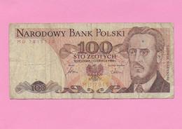 100 ZLOTYCH 1986 POLOGNE - Poland