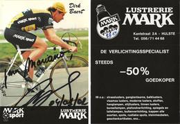 CARTE CYCLISME DIRK BAERT SIGNEE TEAM MARK 1983 - Cycling