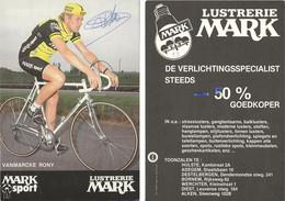 CARTE CYCLISME RONNY VANMARCKE SIGNEE TEAM MARK 1983 - Cycling