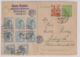 Gemeinsch.Ausg./10-fach. GA P 950, Glauchau 29.6.48, Mi. 650,00 - American,British And Russian Zone