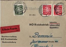 ! Schöner Eilbrief Mit Dienstmarken Aus Neubrandenburg 1955 - Official