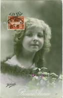 17 - Bonne Année - Yolande - Jeune Fille Avec Du Houx - Nieuwjaar