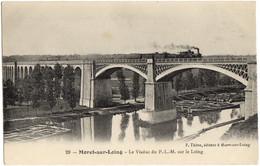29- Moret Sur Loing - Le Viaduc Du P.-L.-M. Sur Le Loing - Train Locomotive Vapeur, Canal Peniche - Moret Sur Loing