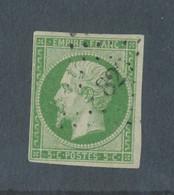 FRANCE - N° 12 OBLITERE PC - COTE : 95€ - 1854 - 1853-1860 Napoleon III
