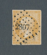FRANCE - N° 13A OBLITERE PC 2807 SARLAT - COTE MINI : 20€ - 1853 - 1853-1860 Napoleon III