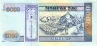 MONGOLIA P. 67b 1000 T 2007 UNC - Mongolia