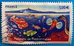 France 2016  : Euromed Postal, Faune Poissons De La Mer Méditerranée N° 5077 Oblitéré - Usati