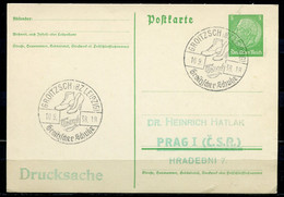 "German Empires,DR 1938 Drucksachen GS Hindenburg Michel Nr.P 225 M.SST""Groitzsch,Tragt Groitzscher Schuhe ""1 GS Used - Interi Postali"