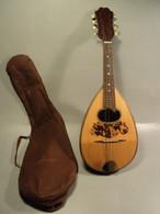 Ancienne Mandoline Avec Housse Giuseppe Venzana Napoli - Strumenti Musicali