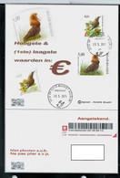 Carton  Souvenir Obl Point Poste 26/05/2015 Envoi En Recommandé Au Membre - 1985-.. Vogels (Buzin)
