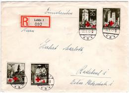 Generalgouvernement 1940, 4 Marken Rotes Kreuz Kpl. Auf Reko Brief V. Lublin - Sonstige