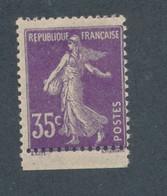 FRANCE - SEMEUSE CAMEE N°142d) PAPIER GC NEUF** SANS CHARNIERE - COTE MINI : 30€ - 1907 - 1906-38 Sower - Cameo
