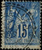 -Sage N°101  Type II  Ob  ( CAD B ) BAZEILLES ( 07 ) - 1876-1898 Sage (Type II)
