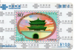 Timbre Stamp Pagode  Télécarte Chine China Unicom Phonecard  (D 699) - Francobolli & Monete