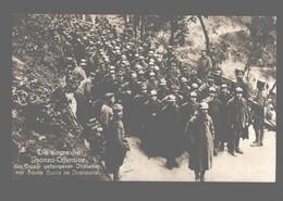 Slovenia - Die Siegreiche Isonzo-Offensive - Ein Trupp Gefangener Italiener Vor Santa Lucia Im Isonzotal - Photo Card - Guerra 1914-18