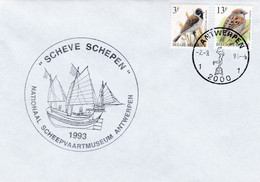 Enveloppe 2533 2425 Scheve Schepen Nationaal Scheepvaartmeuseum Antwerpen - Covers & Documents