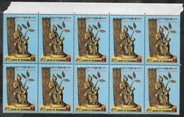 MYANMAR (BURMA) -1992 - NASCITA DELL'ALBERO SACRO - 2 K - BLOCCO 10 FRANCOBOLLI - NUOVO MNH**( YVERT 218 - MICHEL 309) - Myanmar (Birmanie 1948-...)