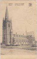 Menen - De Jozef-kerk (gelopen Kaart Met Zegels) - Menen