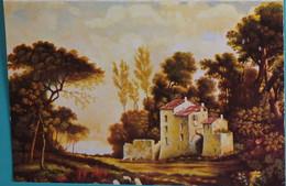 Petit Calendrier De Poche 1975 APBP D'après Original Peint Bouche  Paysage Maison - Small : 1971-80