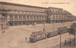 Lyon Gare Des Brotteaux Tramway Sel Cérébos Chocolat Menier Pernod Vin Apéritif Absinthe 36 MF - Lyon 6