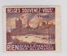 Wereldoorlog I Ypres Belges Souvenez -vous - Commemorative Labels
