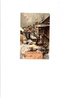 """C P A ILLUSTRATION  GUGGENBERGER   """" SCENE D'HIVER VENDREDI  """"  CIRCULEE   1902 - Guggenberger, T."""