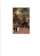 """C P A ILLUSTRATION  GUGGENBERGER   """" SCENES D'HIVER SAMEDI """"  CIRCULEE   1905 - Guggenberger, T."""