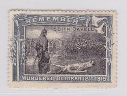 Wereldoorlog I Vignette Remember Edith Cavell, Engelse Uitgave - Commemorative Labels