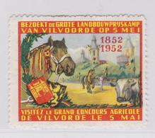 Vilvoorde 1952 Landbouwprijskamp Vignette - Commemorative Labels