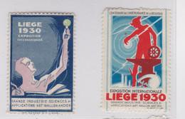 Liège 1930  Exposition Internationale   Vignettes - Erinnophilie