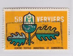 Verviers 1958 Centre Textile Et....   Vignette - Commemorative Labels