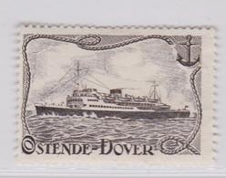 Ostende- Dover.   Vignette - Commemorative Labels