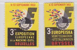 Bruxelles  Exposition Européenne De La Machine-outil1953  Vignette - Commemorative Labels