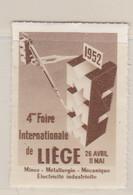 Liége Foire Internationale 1952 Vignette - Commemorative Labels