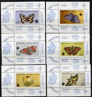 Abkhazia 1995 Butterflies (with Scout Emblem) Set Of 6 Perf Sheetlets Unmounted Mint - Europe (Other)