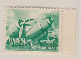 Sabena 1923-1948  Vignette - Commemorative Labels
