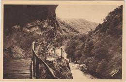 Route De Nauzenac A Spontour Le Tunnel En Construction Dans Le Rocher - Non Classés